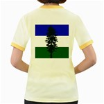 Flag of Cascadia Women s Fitted Ringer T-Shirts Back