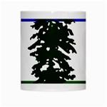 Flag of Cascadia White Mugs Center