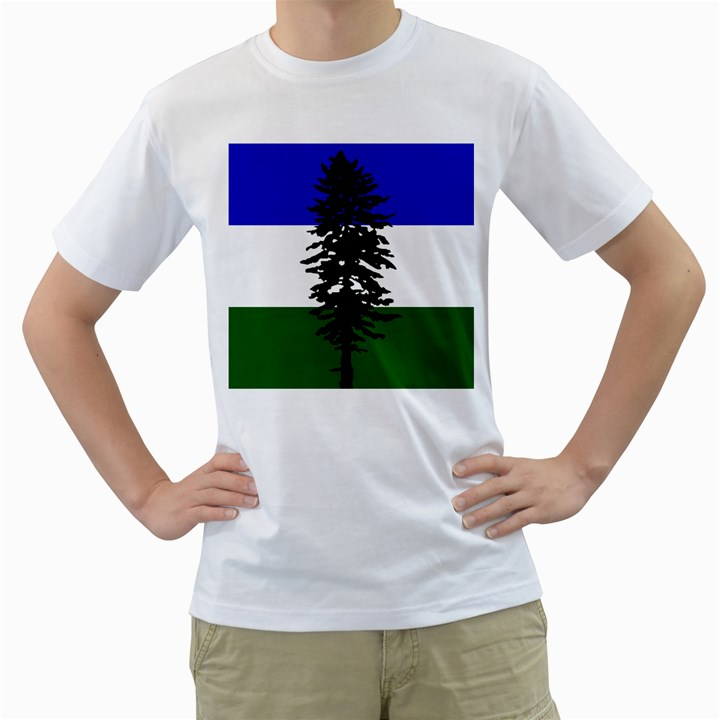 Flag of Cascadia Men s T-Shirt (White) (Two Sided)