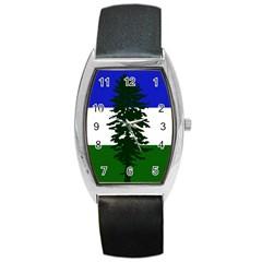Flag Of Cascadia Barrel Style Metal Watch