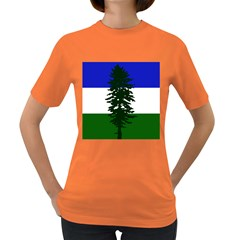 Flag Of Cascadia Women s Dark T Shirt