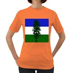 Flag of Cascadia Women s Dark T-Shirt Front