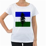 Flag of Cascadia Women s Loose-Fit T-Shirt (White) Front