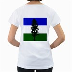Flag of Cascadia Women s Loose-Fit T-Shirt (White) Back