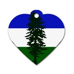 Flag of Cascadia Dog Tag Heart (Two Sides) Front