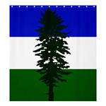 Flag of Cascadia Shower Curtain 66  x 72  (Large)  58.75 x64.8 Curtain