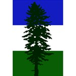 Flag of Cascadia 5.5  x 8.5  Notebooks Back Cover Inside