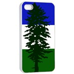 Flag of Cascadia Apple iPhone 4/4s Seamless Case (White) Front