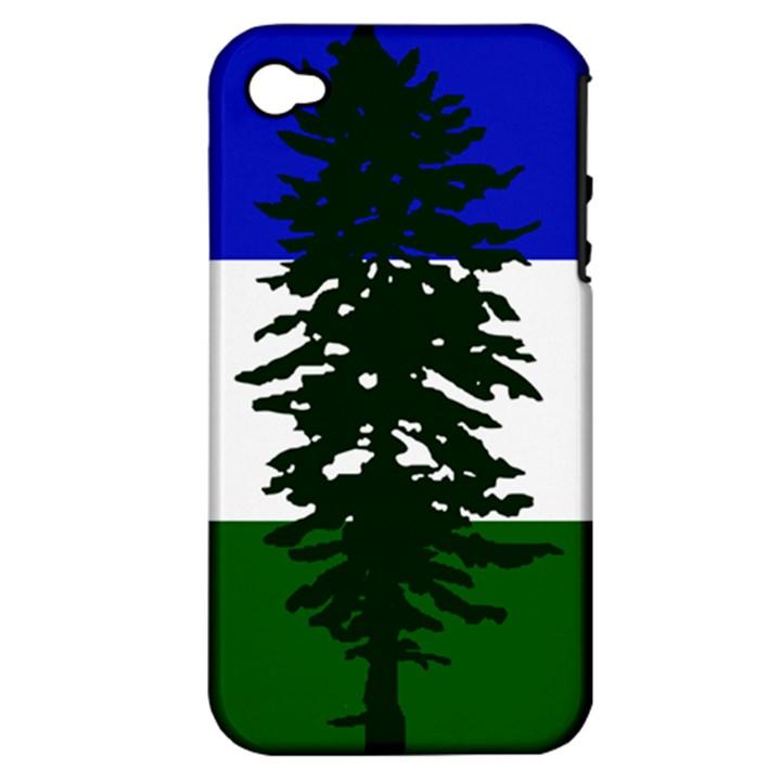 Flag of Cascadia Apple iPhone 4/4S Hardshell Case (PC+Silicone)