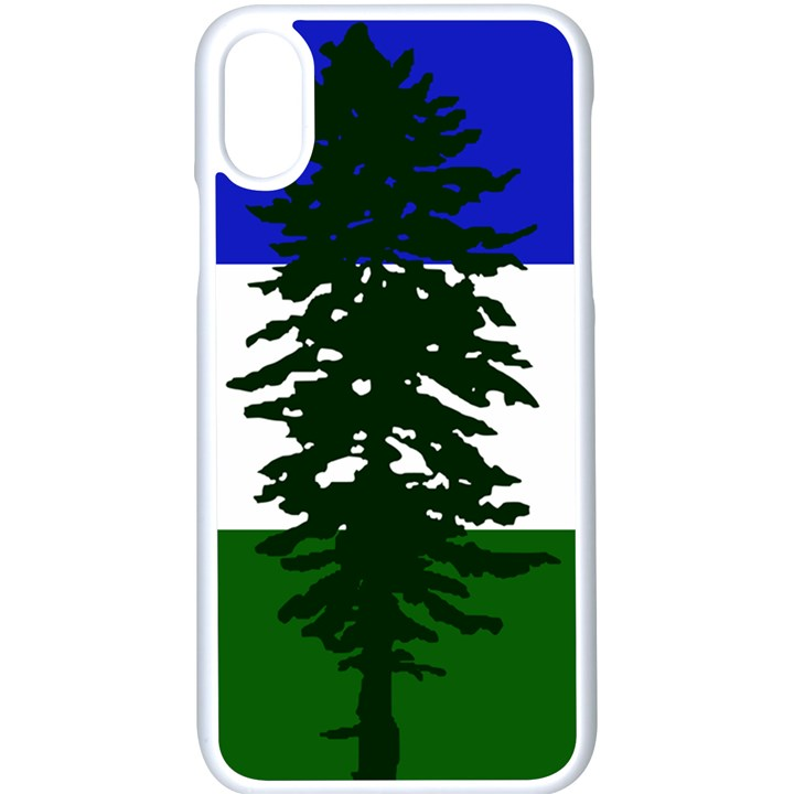 Flag of Cascadia Apple iPhone X Seamless Case (White)