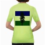 Flag of Cascadia Women s Green T-Shirt Back