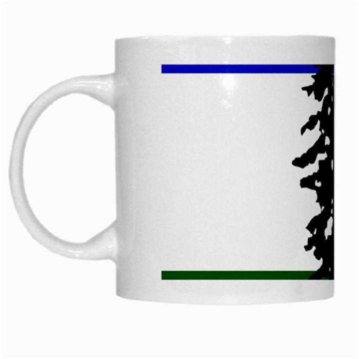 Flag of Cascadia White Mugs