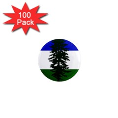 Flag Of Cascadia 1  Mini Magnets (100 Pack)