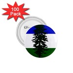 Flag of Cascadia 1.75  Buttons (100 pack)  Front
