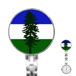 Flag of Cascadia Stainless Steel Nurses Watch Front