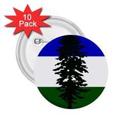 Flag Of Cascadia 2 25  Buttons (10 Pack)