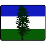 Flag of Cascadia Double Sided Fleece Blanket (Medium)  58.8 x47.4 Blanket Back