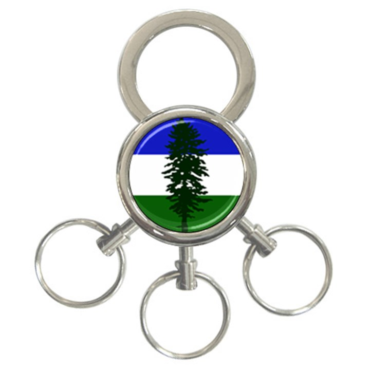 Flag of Cascadia 3-Ring Key Chains