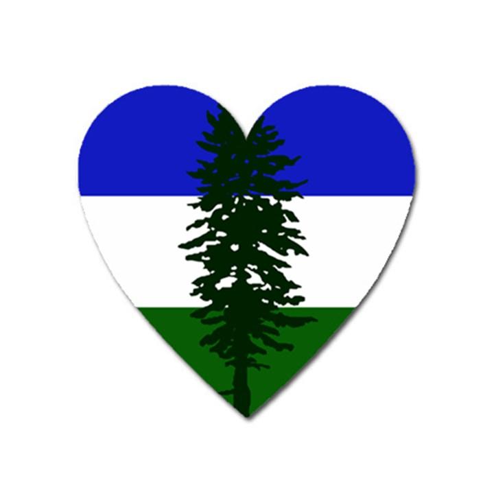 Flag of Cascadia Heart Magnet
