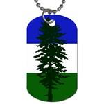 Flag of Cascadia Dog Tag (Two Sides) Back