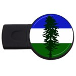 Flag of Cascadia USB Flash Drive Round (2 GB) Front