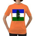 Flag of Cascadia Women s Dark T-Shirt Front