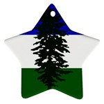 Flag of Cascadia Star Ornament (Two Sides) Back
