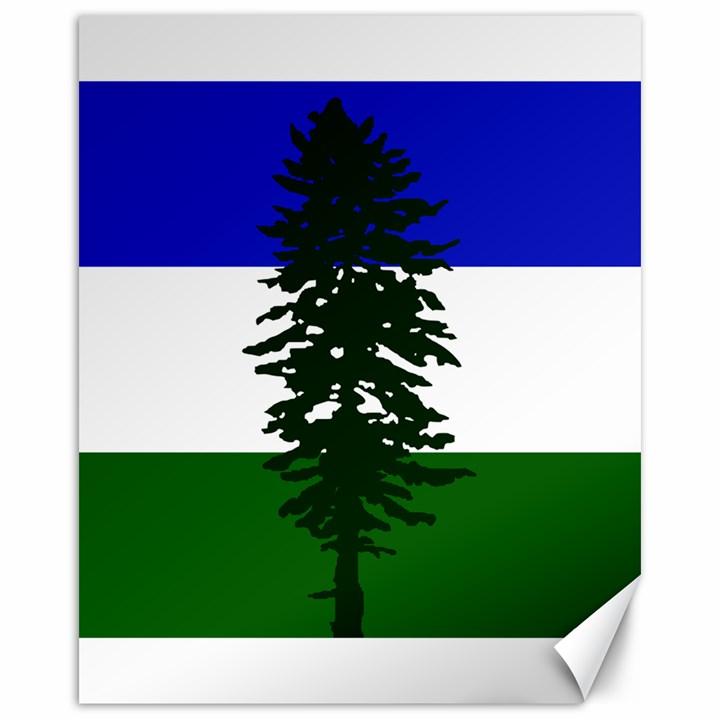Flag of Cascadia Canvas 16  x 20