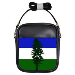 Flag Of Cascadia Girls Sling Bags