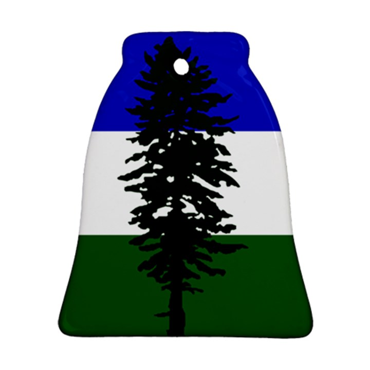 Flag of Cascadia Bell Ornament (Two Sides)
