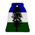 Flag of Cascadia Bell Ornament (Two Sides) Back