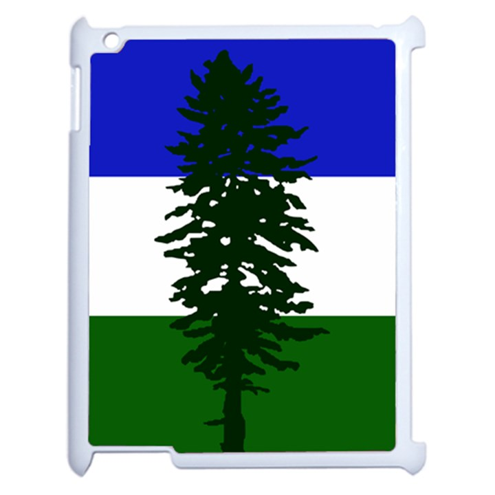 Flag of Cascadia Apple iPad 2 Case (White)