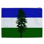 Flag of Cascadia Cosmetic Bag (XXL)  Back