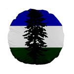 Flag of Cascadia Standard 15  Premium Round Cushions Back