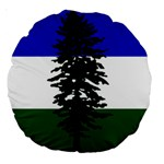 Flag of Cascadia Large 18  Premium Round Cushions Front