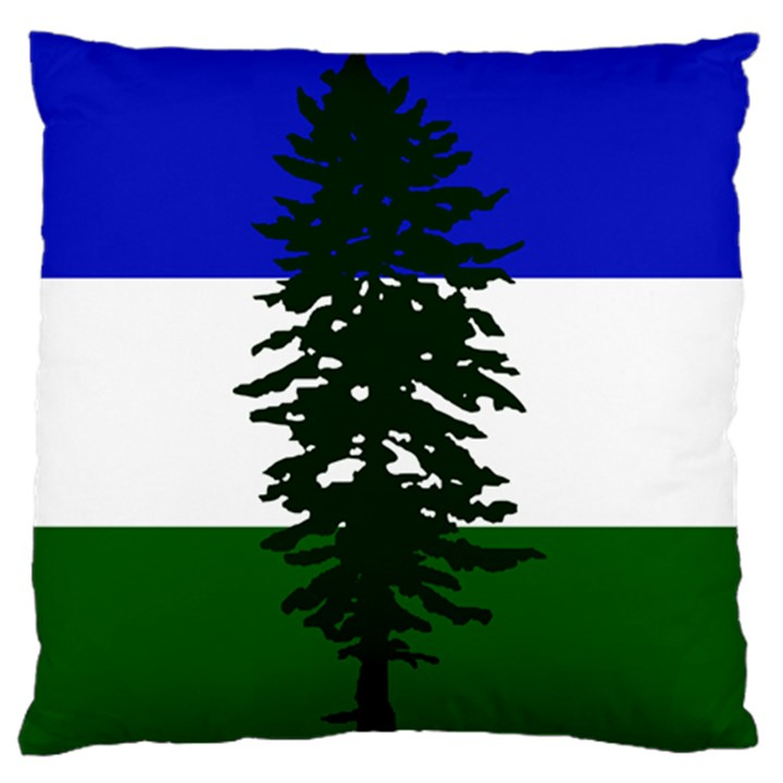 Flag of Cascadia Standard Flano Cushion Case (Two Sides)