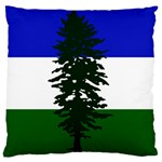 Flag of Cascadia Standard Flano Cushion Case (Two Sides) Back