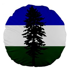 Flag Of Cascadia Large 18  Premium Flano Round Cushions