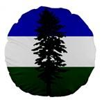 Flag of Cascadia Large 18  Premium Flano Round Cushions Back
