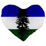 Flag of Cascadia Large 19  Premium Flano Heart Shape Cushions Front