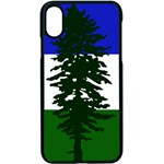 Flag of Cascadia Apple iPhone X Seamless Case (Black) Front