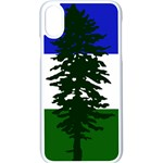 Flag of Cascadia Apple iPhone X Seamless Case (White) Front