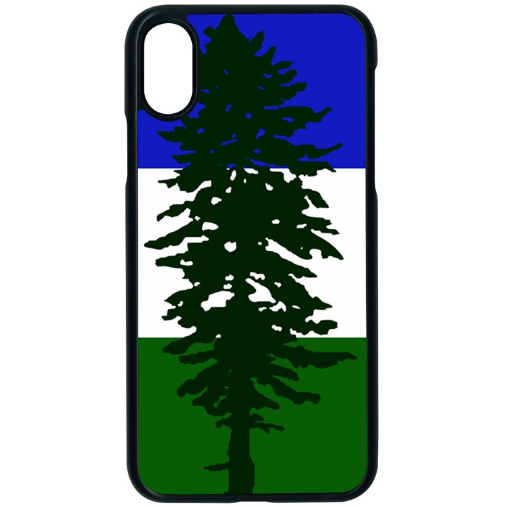 Flag of Cascadia Apple iPhone X Seamless Case (Black)