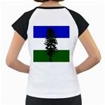 Flag of Cascadia Women s Cap Sleeve T Back