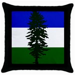 Flag of Cascadia Throw Pillow Case (Black) Front