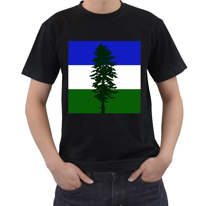Flag of Cascadia Men s T-Shirt (Black) (Two Sided)