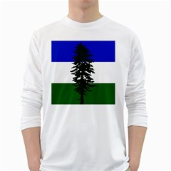 Flag Of Cascadia White Long Sleeve T Shirts