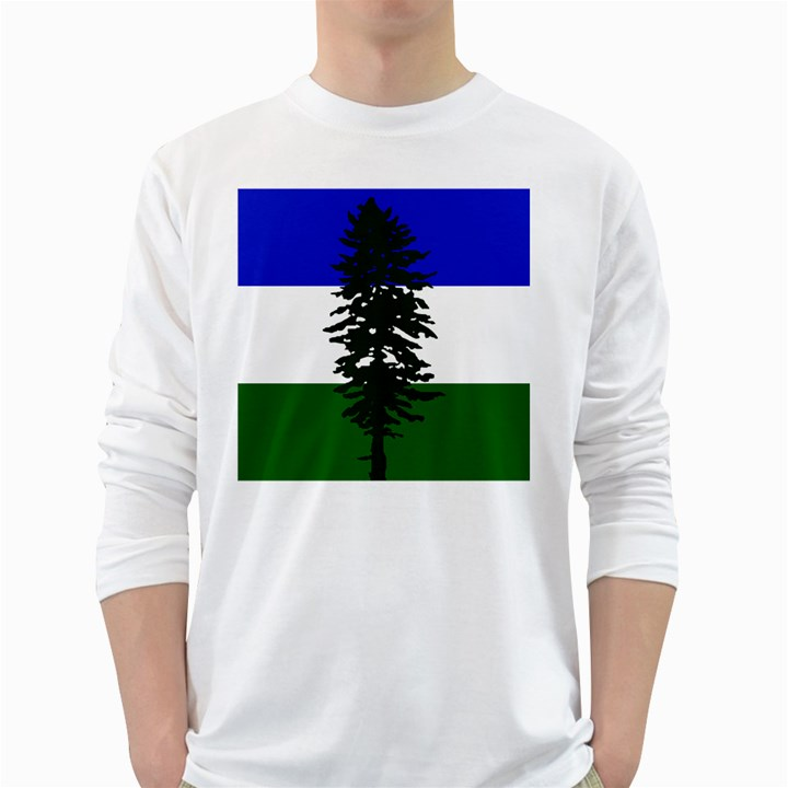 Flag of Cascadia White Long Sleeve T-Shirts