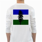 Flag of Cascadia White Long Sleeve T-Shirts Back