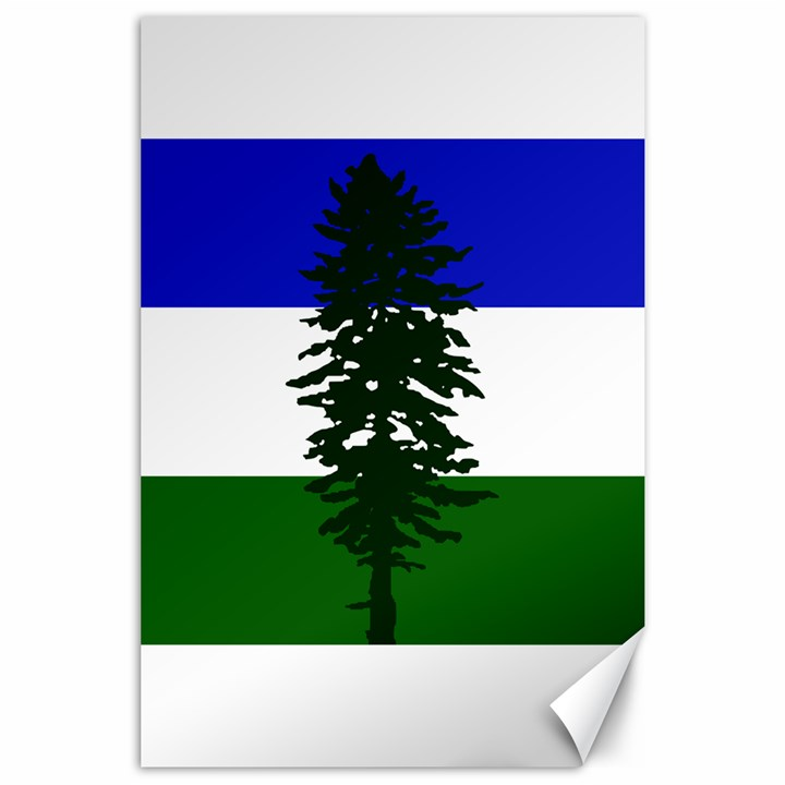 Flag of Cascadia Canvas 24  x 36